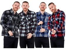 New Men's Lumberjack Fleece Check Casual Warm Work Shirts Tops Size M to 3XL