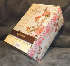 Floral Musical Print Photo DVD or CD Storage Box Holds Up To 1000 photos