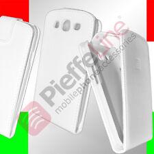 custodia eco PELLE bianca protezione FLIP CASE per SAMSUNG i9300 Galaxy s 3 III