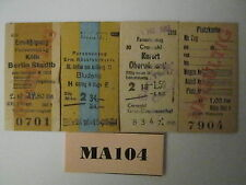 Germany Railway Tickets x 4 Ref MA104