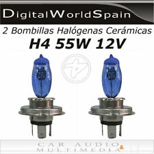 2 BOMBILLAS HALOGENAS CERAMICAS H4 55/60W 12V LUZ BLANCA TIPO XENON