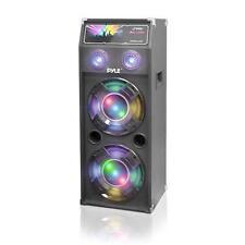 New PSUFM1040P 1000 Watts Disco Jam Passive Dual 10'' DJ Speaker Flashing Lights