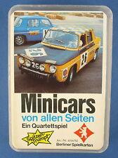 Quartett - Minicars - Berliner Spielkarten - Nr. 631 6752 -- von 1973 -- Auto