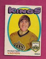 1971-72 OPC # 156 KINGS ROGATIEN VACHON GOALIE EX+  CARD  (INV#0966)