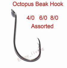 150x2//0 4//0 6//0 Octopus Circle Fishing Hook Saltwater High Carbon Steel Assorted