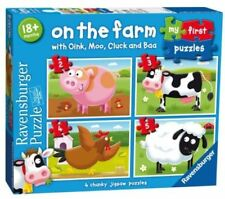 Ravensburger on The Farm 4 My First Jigsaw Puzzle Set Age 18 Months 07302