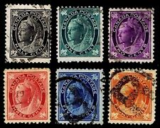 Canada #66-70 & 72 Qv Issues Of 1897-98 - Used - F/Vf+ - Cv$32.65 (Esp#0380)
