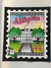 State Stamp fabric panel - Alabama