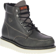 Harley-Davidson Men's Palmerton Grey or Brown 6-Inch Motorcycle Boots, D93689