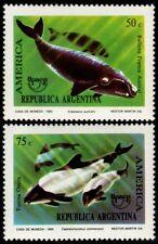 ✔️ ARGENTINA 1993 - UPAEP FAUNA WHALES - MI. 2190/2191 ** MNH OG [101.004]