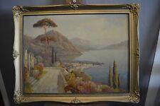 Hans Richter Johannsen 20. JH. paesaggio ITALIA MERIDIONALE olio/Lw. Italia ITALIA ITALY