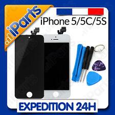 VITRE TACTILE + ECRAN LCD RETINA SUR CHASSIS IPHONE 5/5C/5S NOIR/BLANC + OUTILS