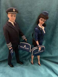 Vintage Ken #779 & Barbie #984 American Airlines Complete & Near Mint