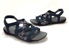d6cfd1a5a0 New JSport by Jambu size 8.5 Woodland Navy Blue Floral Vegan Strappy Sandals