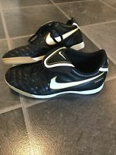 New listing Nike Tiempo Natural III Mens Indoor Soccer 366206-018 Black White  Size 8