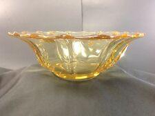Fostoria Baroque Yellow-Topaz Depression Centerpiece Glass Console Bowl