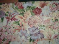 Vtg Les Jordins Tiger Lily Flowers Hoffman Designer Quilt Fabric 64x43 #ff540