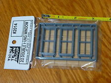 Tichy Train Group #2014 (O Scale)Windows - Double-Hung pkg(6) -- 2/2, Scale 28 x