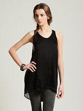 Clu Paneled Silk Black Combo Tunic in Size Large NWT
