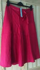 L@@K M&S PER UNA NWT SIZE 10 GORGEOUS RED LINEN SUMMER SKIRT RRP £35 GIFT IDEA?