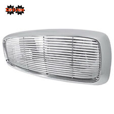 For 02-05 Dodge Ram 1500/2500/3500 Chrome Front Grille ABS Plastic Horizontal