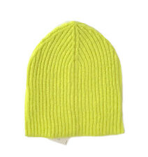 389283c311e02 Ann Taylor LOFT - Womens - NWT - Neon Chartreuse Ribbed Knit Basic Beanie  Hat