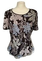 Jacques Vert Size 14 Chiffon Floral Top With Beading Wedding Occasion