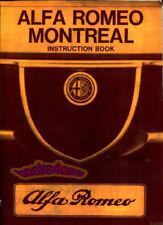 MONTREAL ALFA ROMEO OWNERS MANUAL OWNER'S HANDBOOK GUIDE BOOK