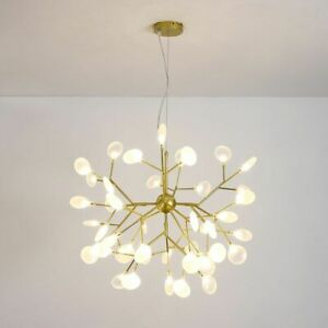 Led Chandelier Lighting Tree Branches Ceiling Indoor Hanging Lamps Decorations