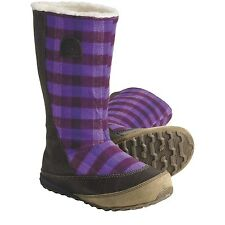 NIB Womens Sorel MacKenzie Slip Holiday Tall Fleece-Lined Royal Purple Boots 6.5