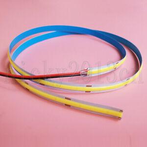 1M High Density Ra90 COB FOB LED Flexible Strip Light Ribbon Linear Clear White
