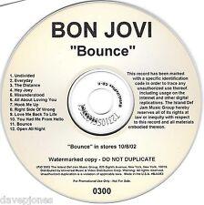 "BON JOVI ""Bounce"" Advanced ""Acetate"" 2002 Promo WATERMARKED CD for radio station"
