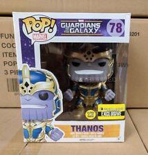 "Funko Pop Marvel Thanos Glow in the Dark 6"" Pop Vinyl Bobble Head EE Exclusive"