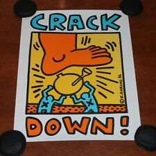 Street Artist Keith Haring Crack Down Is Whack 1986 Art Print Poster Lithograph
