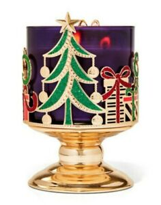 Bath & Body Works Sleight & Presents Pedestal 3 Wick Candle Holder Stand