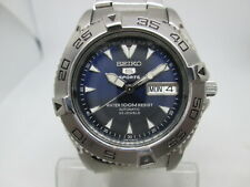 SEIKO 7S36-00Y0 100M STAINLESS STEEL AUTOMATIC MENS DIVER WATCH