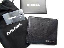 Diesel Negro de cuero con el logotipo de metal de portatarjetas portatarjetas en Bolsa D17