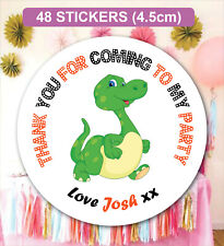 48 Birthday Party Bag Stickers Sweet cone Labels Dinosaurs Personalised