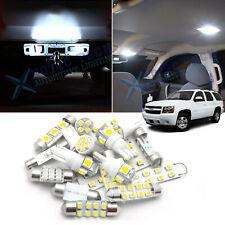 For Chevy Tahoe 2000-2006 LED Bulbs Interior + License Plate Lights Pkg Kit 15x