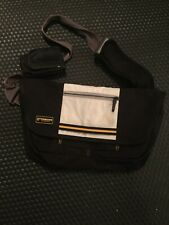 Timbuk2 Small Messenger Bag - Customized Classic Bag - Black/ Grey