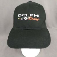 Delphi Racing Fitted Strapback Hat Black Cap Speedway Autoparts