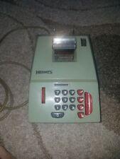 Hermes/Precisa Model 209-8 Adding Machine - Green Made in Switzerland