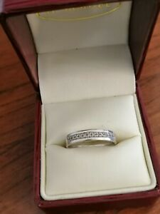 9 Carat White Gold and Diamond Wedding/Eternity Ring