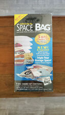 Original Space Bag Vacuum-Seal Storage Pack Includes 3 Bags plus Travel Bag