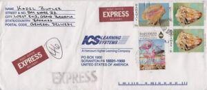 Bahamas -1997 Shells, 10c Conch, $1(2) Cone, 1999 55c Flamingos Express Cover