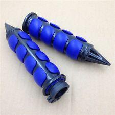 "Black Blue 1"" 25mm Hand Grips For Kawasaki Nomad 1500 Fi/ Yamaha V Star 650"