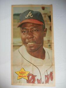 Hank Aaron 1968 TOPPS OPC #14 BRAVES 10x18 in Insert Baseball Poster @NM L@@K