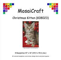 MosaiCraft Pixel Craft Mosaic Art Kit 'Christmas Kitten' Pixelhobby