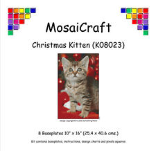 MosaiCraft Pixel Craft Mosaic Art Kit 'Christmas Kitten' Pixelhobby
