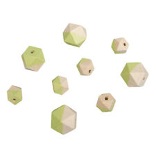 Beads Wood With Facets Green - Rayher